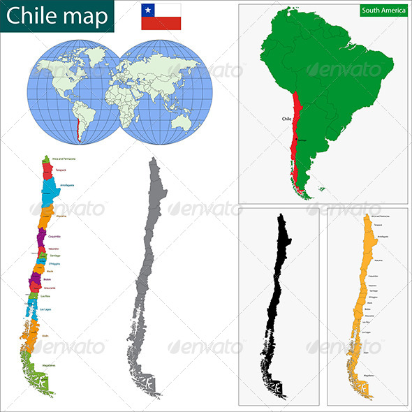 GraphicRiver Chile Map 6679618