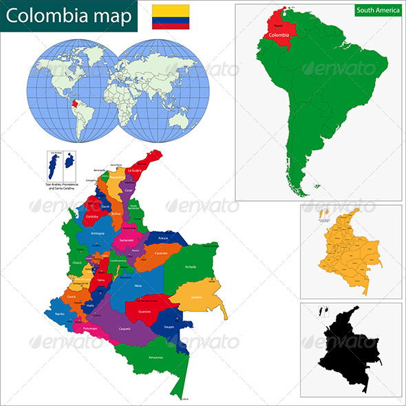 GraphicRiver Colombia Map 6679623