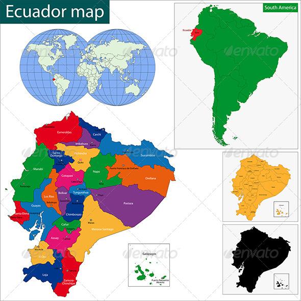 GraphicRiver Ecuador Map 6679669