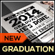 Chalkboard Graduation Announcement Card - GraphicRiver Item for Sale