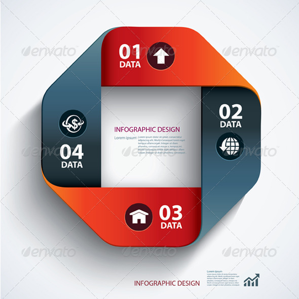 GraphicRiver Business Step Paper Data and Design Template 6679763