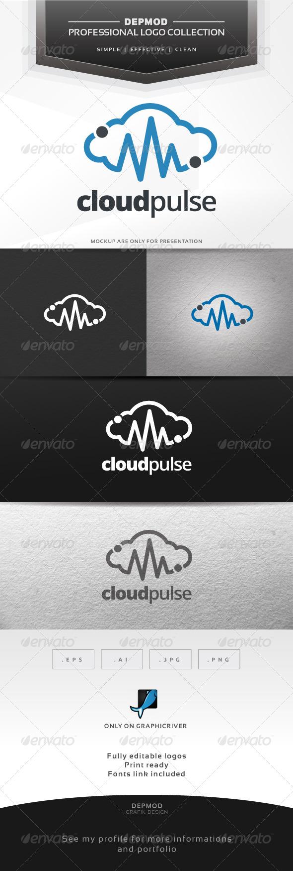GraphicRiver Cloud Pulse Logo 6679817