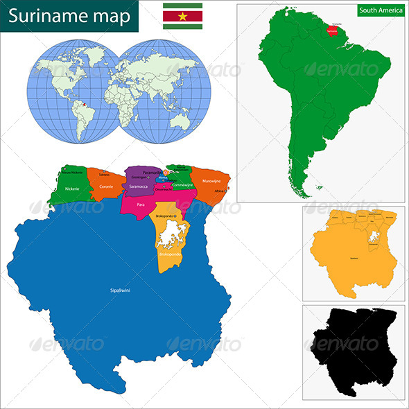 GraphicRiver Suriname Map 6679823