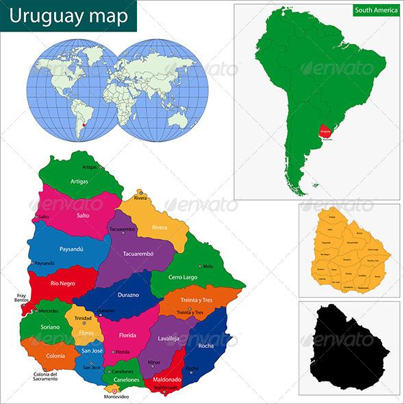 GraphicRiver Uruguay Map 6679838