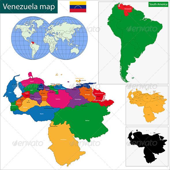 GraphicRiver Venezuela Map 6679922