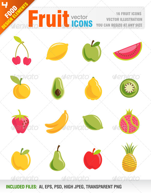 GraphicRiver Fruit Icons 6679954