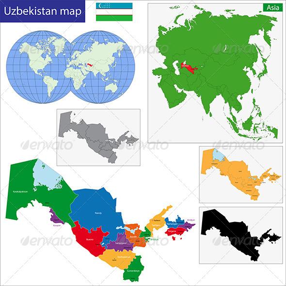 GraphicRiver Uzbekistan Map 6680188