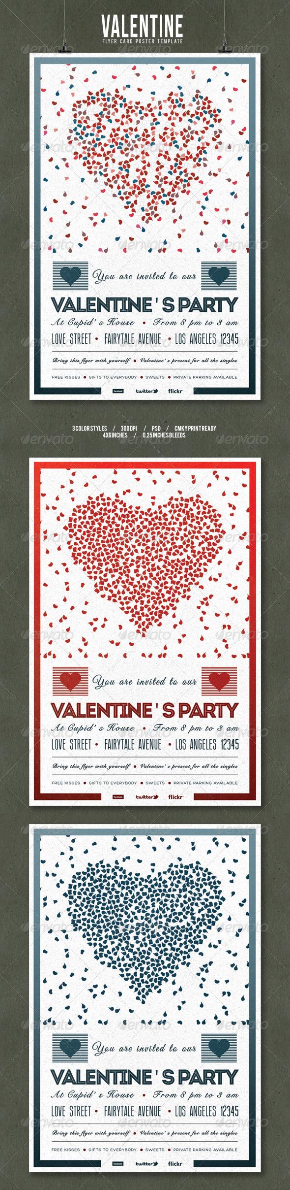 GraphicRiver Valentine s Day Flyer Poster Vintage Vol.2 6679462