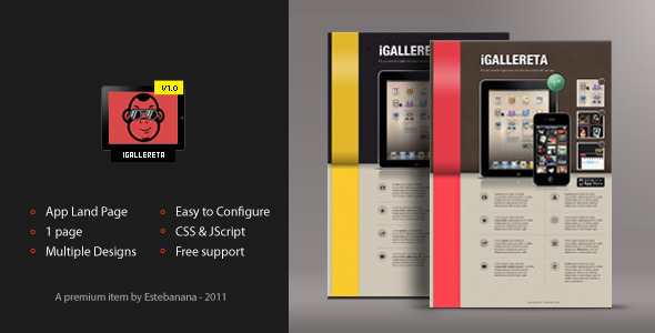 IGallereta - Mobile App Sales Page