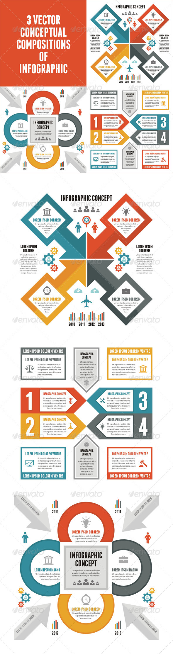 GraphicRiver 3 Infographic Concept for Presentation 6680384