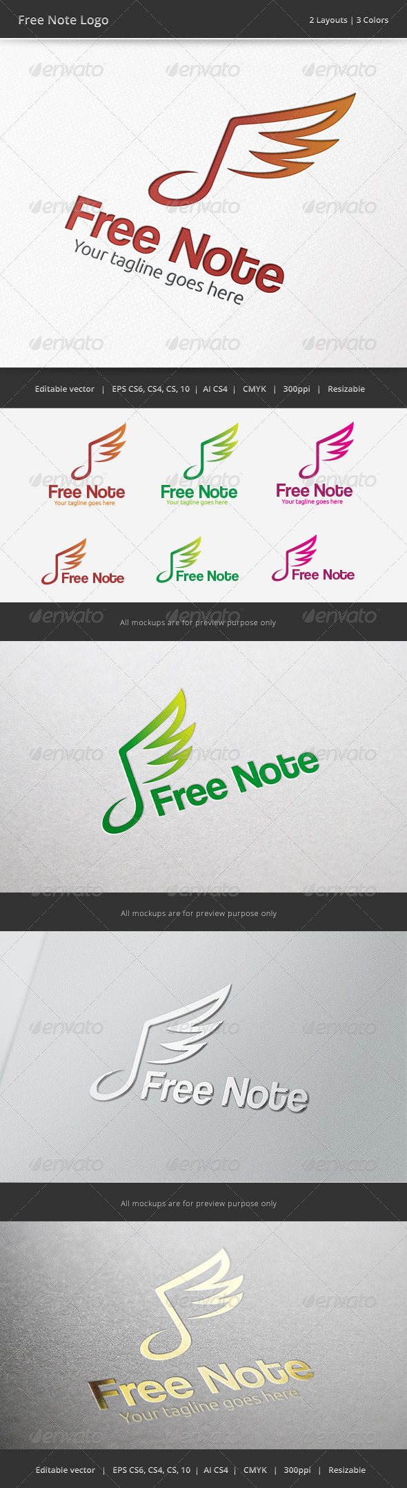 GraphicRiver Freedom Note Logo 6680440