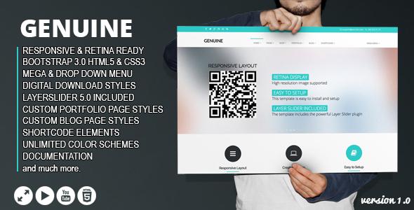 ThemeForest Genuine Multi Purpose HTML5 Creative Template 6680441