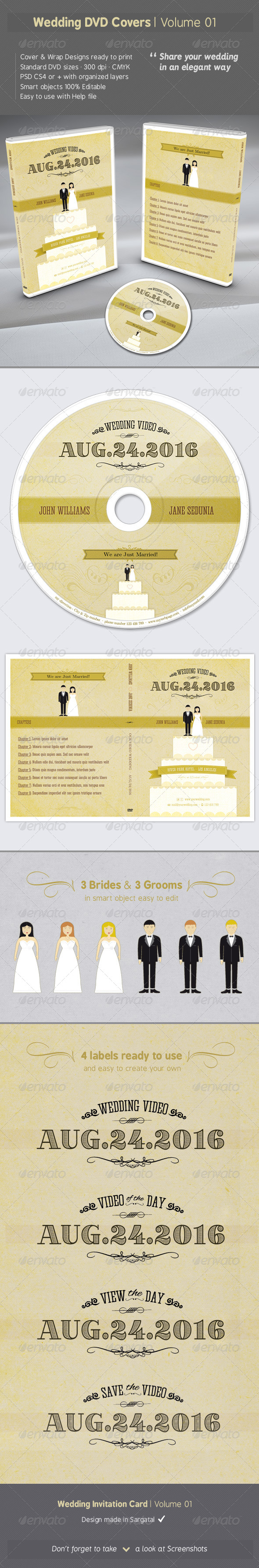 GraphicRiver Wedding DVD Covers Volume 01 6680570