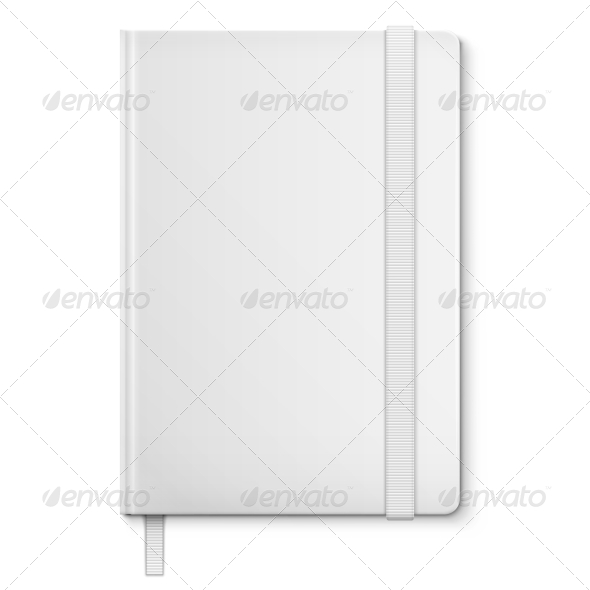 GraphicRiver Realistic White Blank Notebook With bookmark 6680702