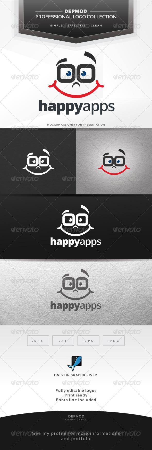 GraphicRiver Happy Apps Logo 6680762