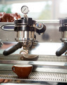 Cup Under Portafilter Attached To Coffee Machine - PhotoDune Item for Sale