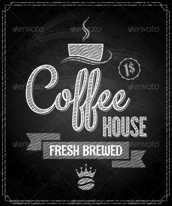 GraphicRiver Coffee Menu Design Chalkboard Background 6680825