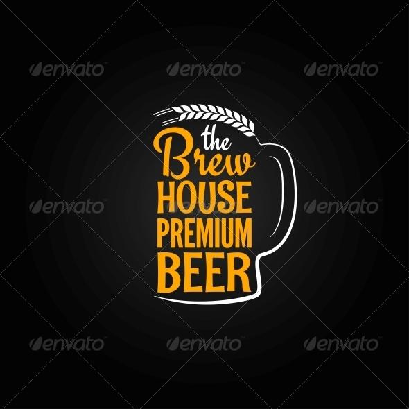 GraphicRiver Beer Design Background 6680834