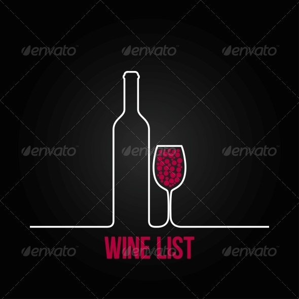GraphicRiver Wine Bottle Glass List Design Menu Background 6680840
