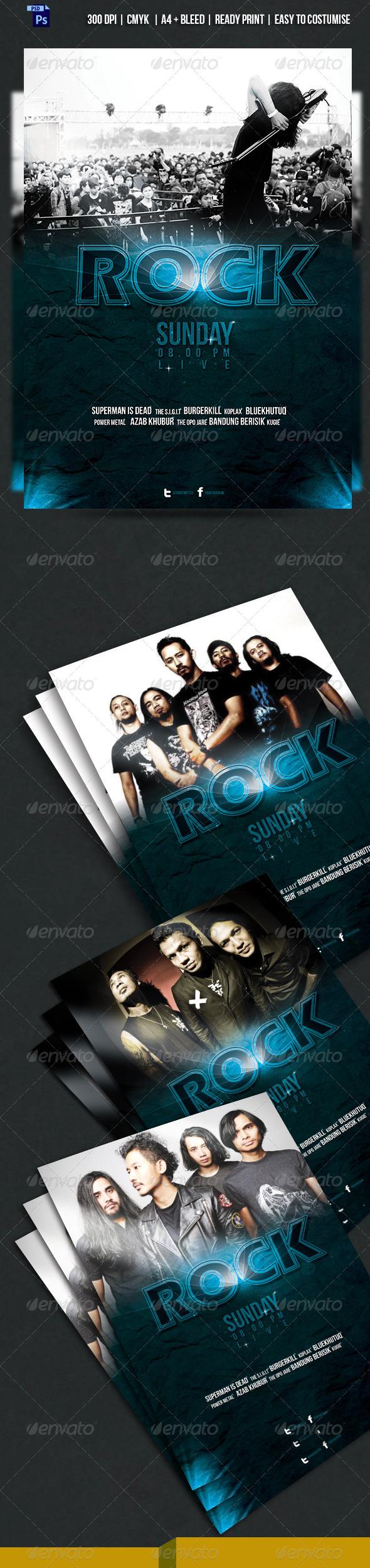 GraphicRiver KOPLAX Rock Band Concert Flyer 6680437