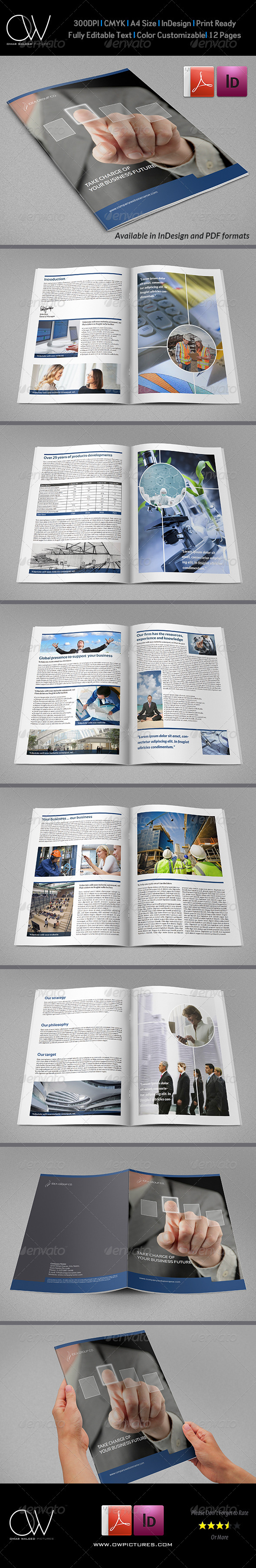 Corporate Brochure Template Vol.22 - 12 Pages - Corporate Brochures