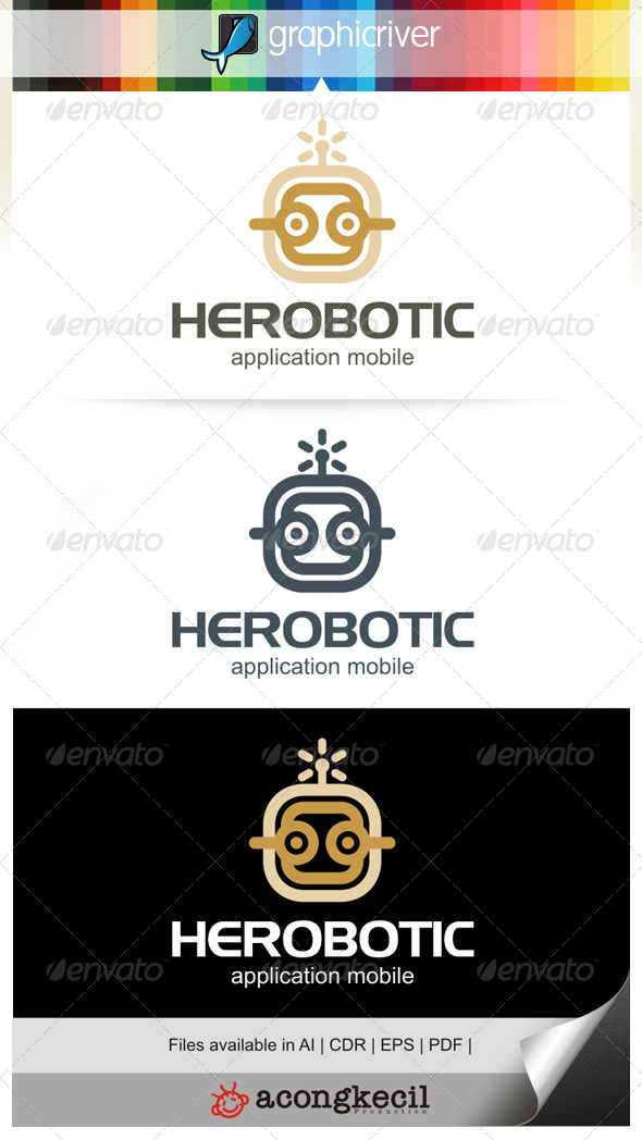 GraphicRiver Robotic V.1 Logo Template 6680999