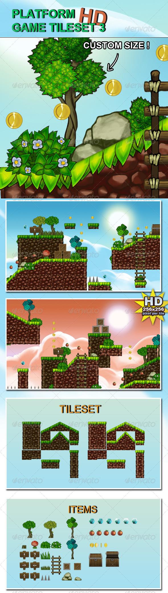 GraphicRiver Platform Game Tileset 3 HD 6681023