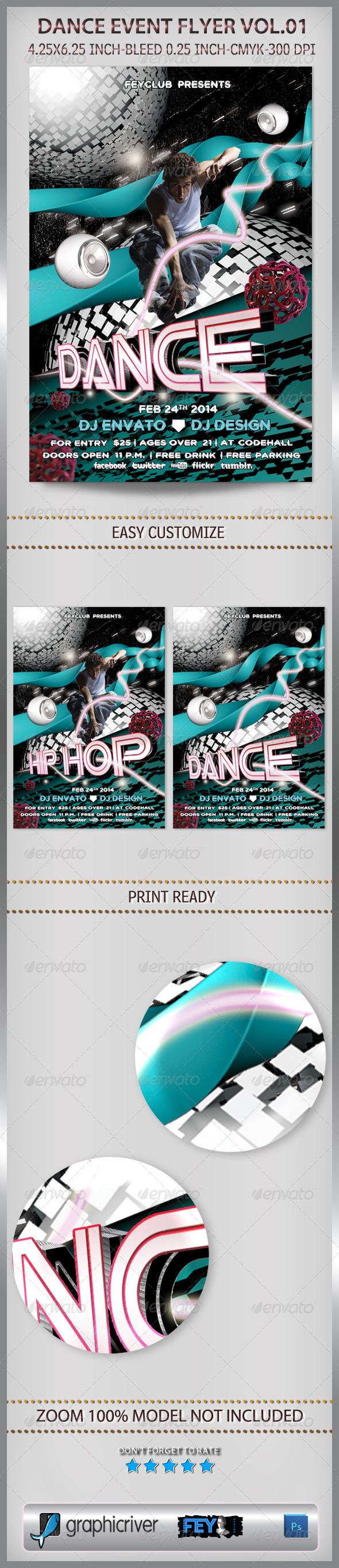 GraphicRiver Dance Event Flyer Vol.01 6681051
