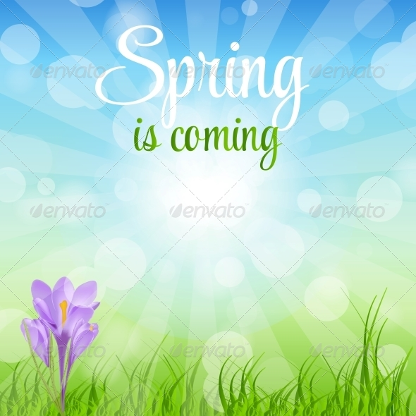 GraphicRiver Spring Green Background Vector 6681102