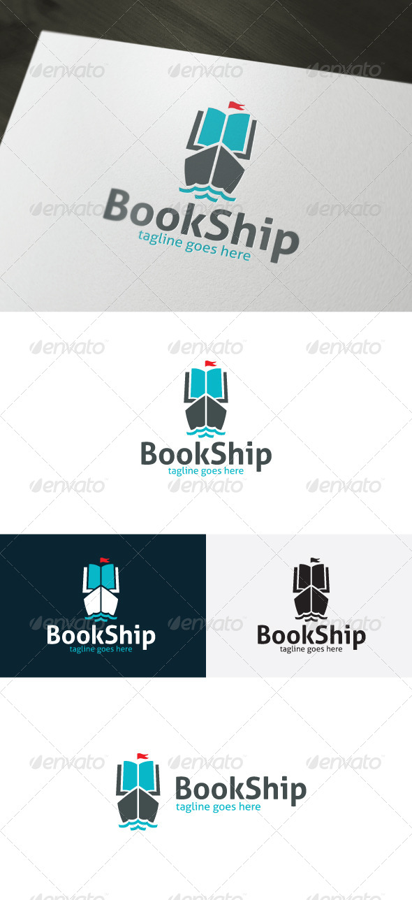GraphicRiver Book Ship Logo 6681331