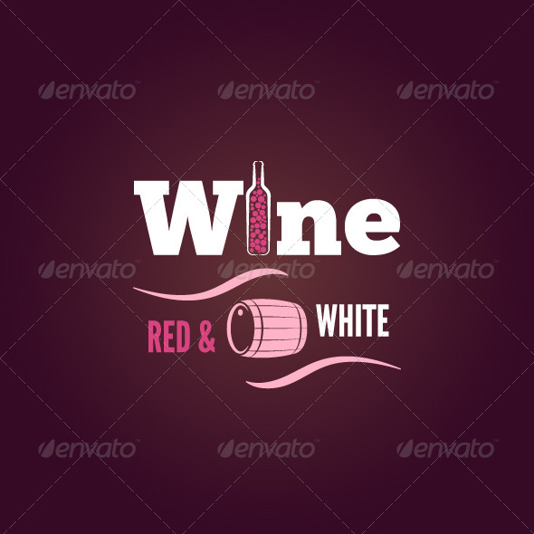 GraphicRiver Wine Bottle Red and White Design Background 6680835