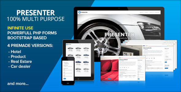 ThemeForest PRESENTER Multi Purpose Showcase 6681344