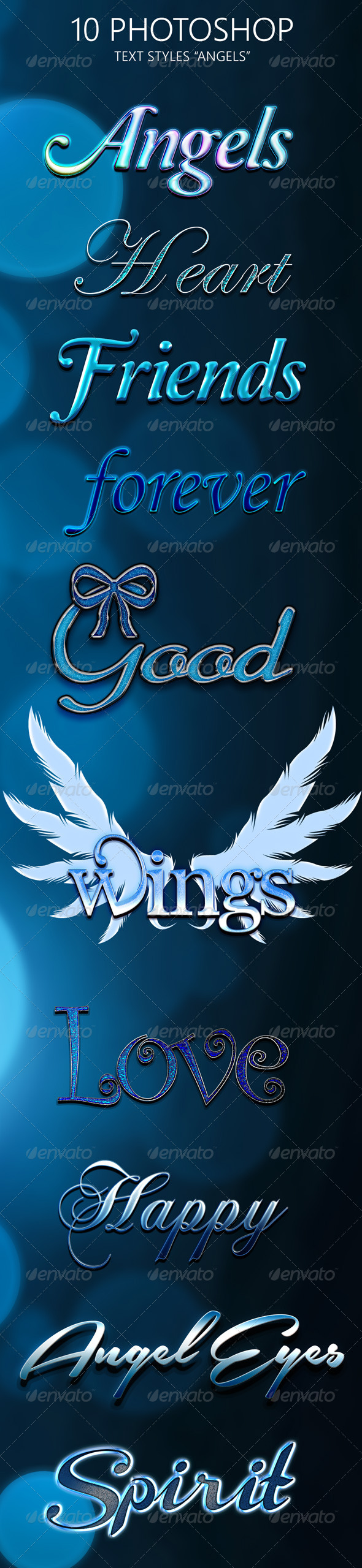 GraphicRiver 10 Photoshop Styles Angels 6681377