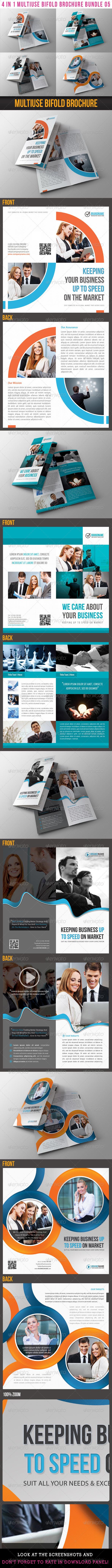 GraphicRiver 4 in 1 Multiuse Bifold Brochure Bundle 05 6681387
