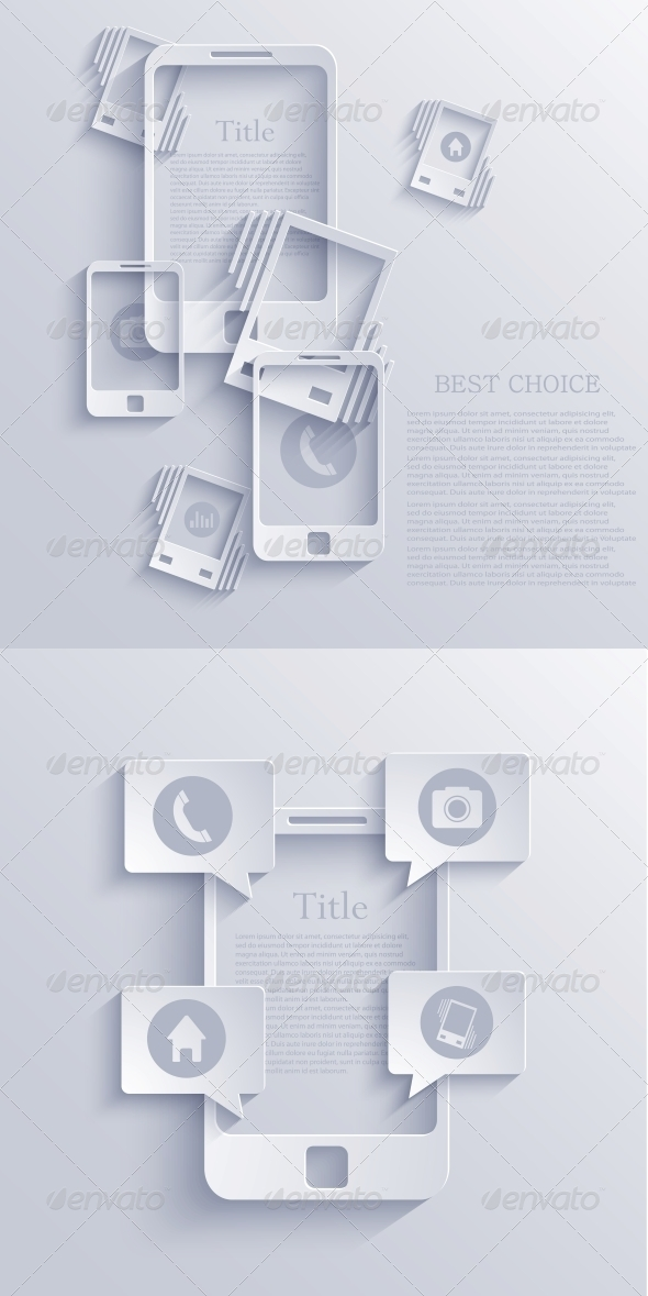GraphicRiver Vector Smartphone Icon Background EPS10 6681610