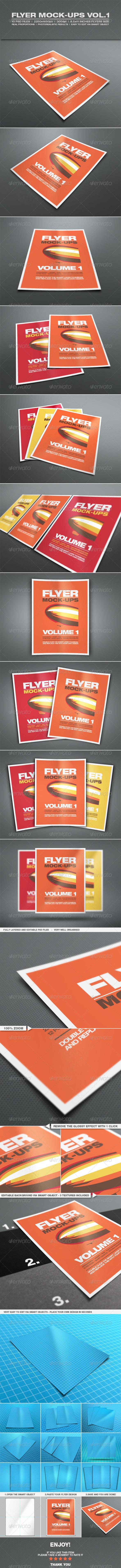 GraphicRiver Flyer Mock-up Vol.1 6681753