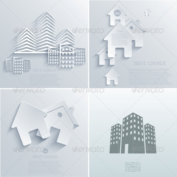 GraphicRiver Vector Real Estate Icon Backgrounds EPS10 6681754