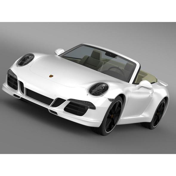 Porsche 911 Exclusive Cabrio - 3DOcean Item for Sale