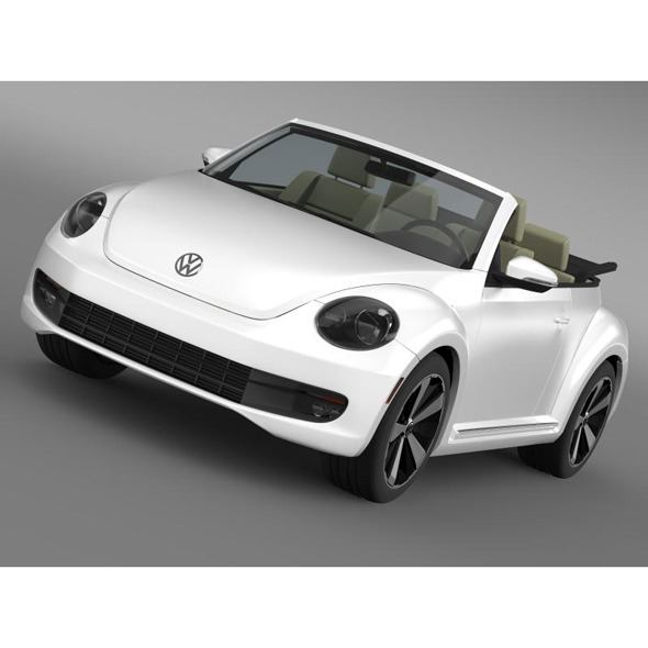VW Beetle Turbo Cabrio - 3DOcean Item for Sale