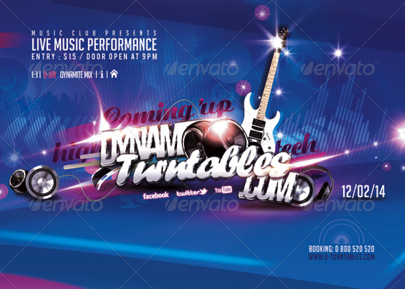 GraphicRiver Flyer Music Live Performance 6681961