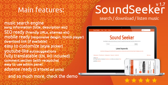 SoundSeeker - Music Search Engine - CodeCanyon Item for Sale