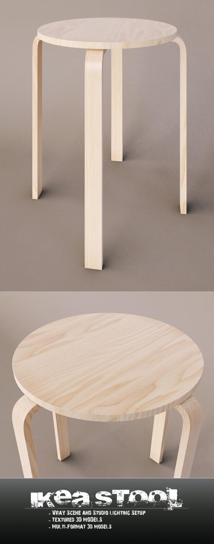 3DOcean Ikea Stool 6682609