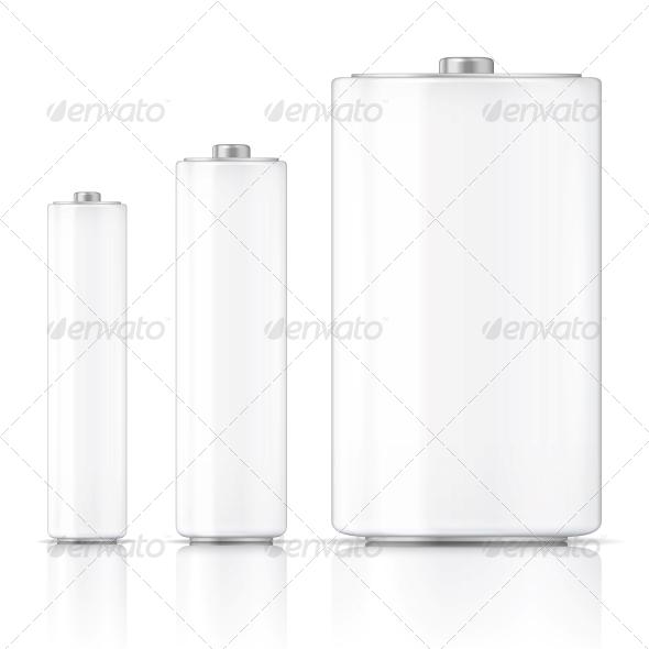 GraphicRiver White Battery Template 6682658