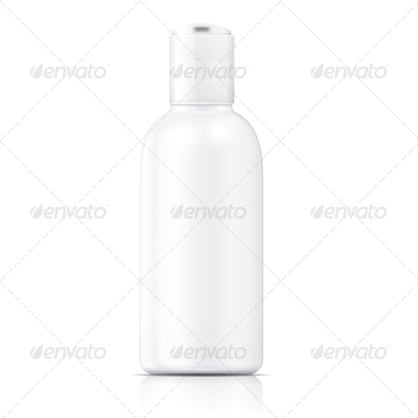 GraphicRiver White Lotion Bottle Template 6682668