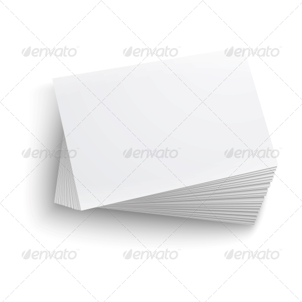 GraphicRiver Stack of Blank Business Card 6682675