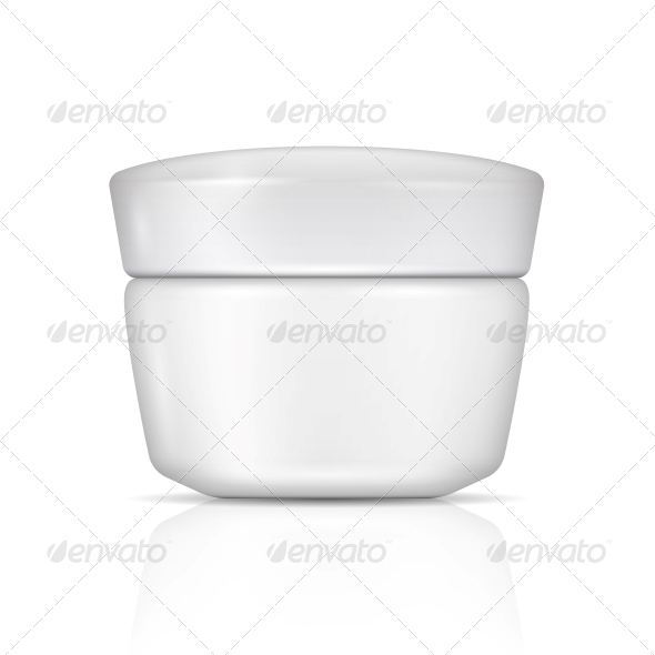 White Body Cream Can with Lid