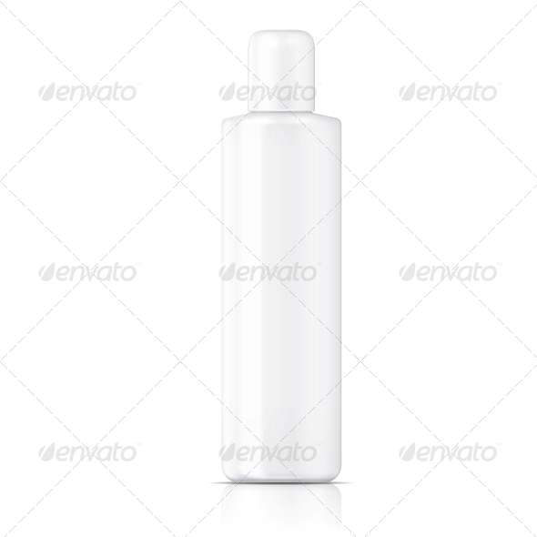 GraphicRiver White Tubular Bottle Template 6682681