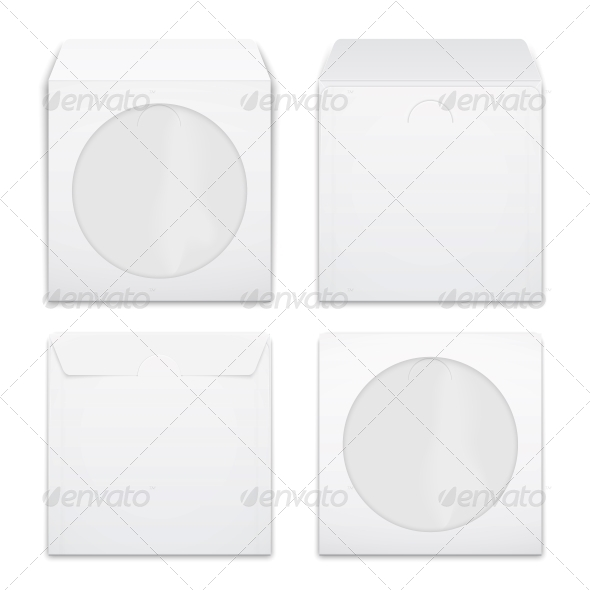 GraphicRiver Blank Compact Disc Envelopes 6682684