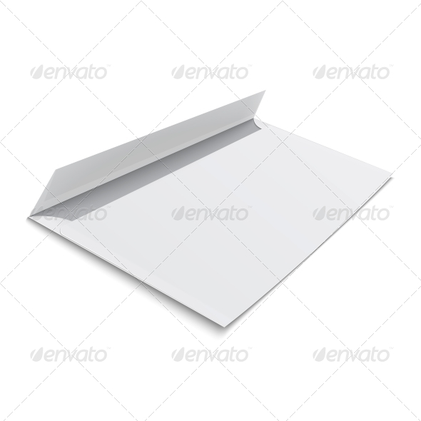 GraphicRiver Blank Envelope on White Background 6682685