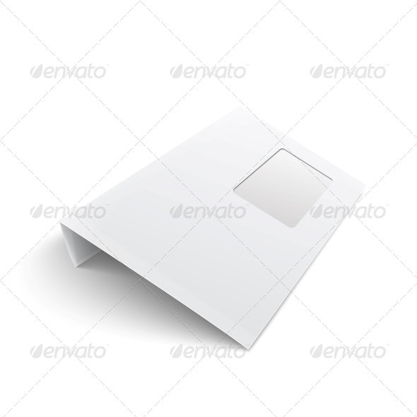 GraphicRiver Blank Envelope with Window on White Background 6682686